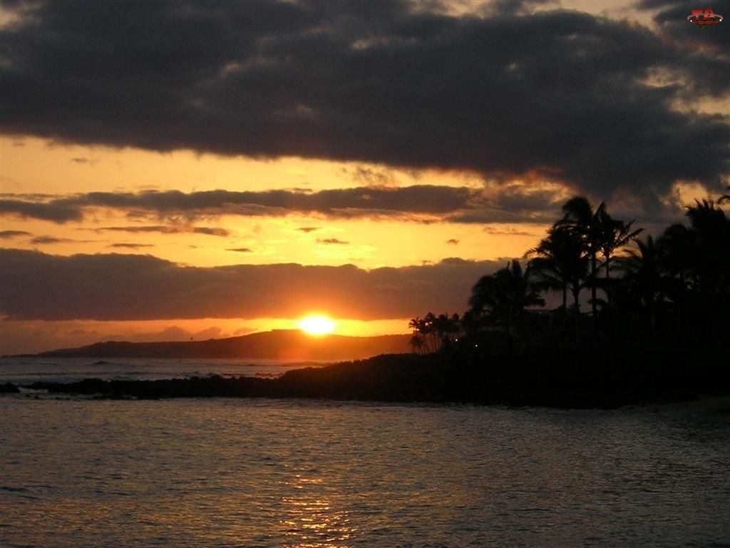 Wybrzeże, Chmura, Zachód Słońca