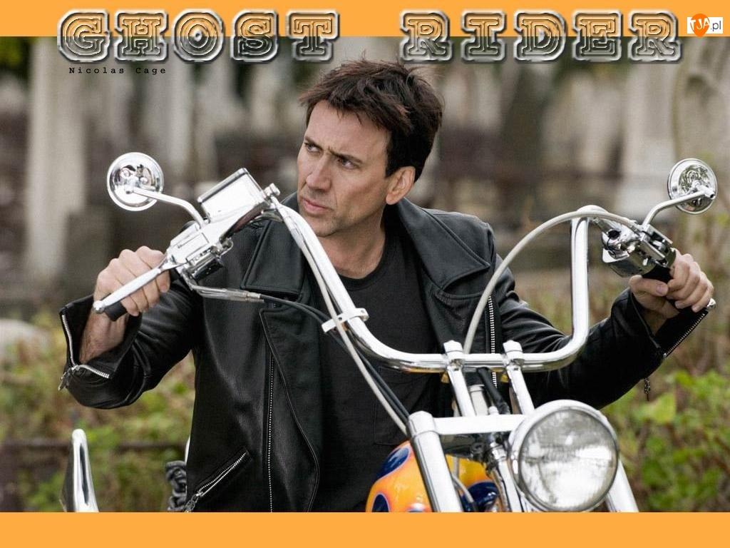 Nicolas Cage, motocykl, Ghost Rider