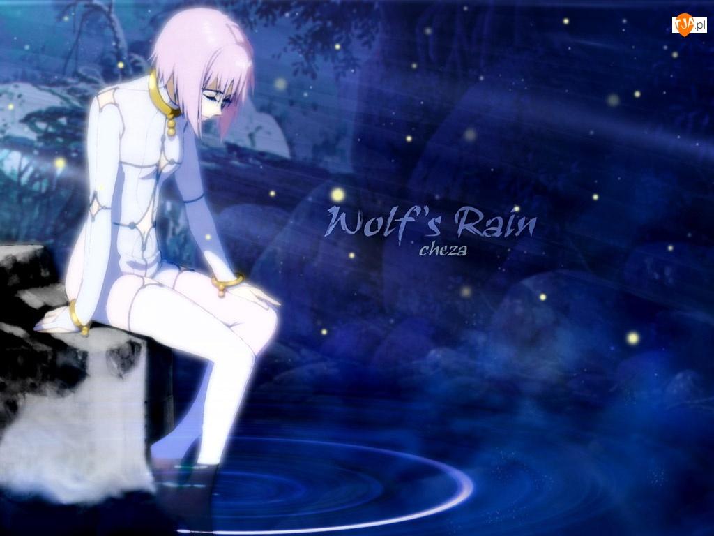 Wolfs Rain, woda, smutna, dziewczyna
