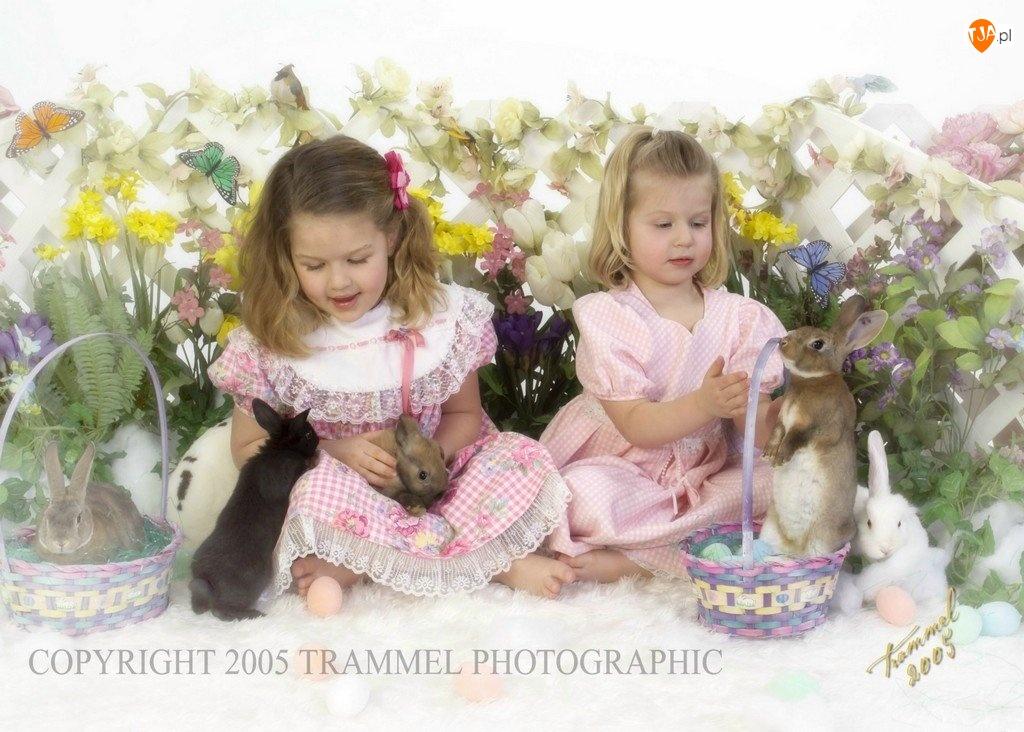zajączki, Wielkanoc, Dziecko