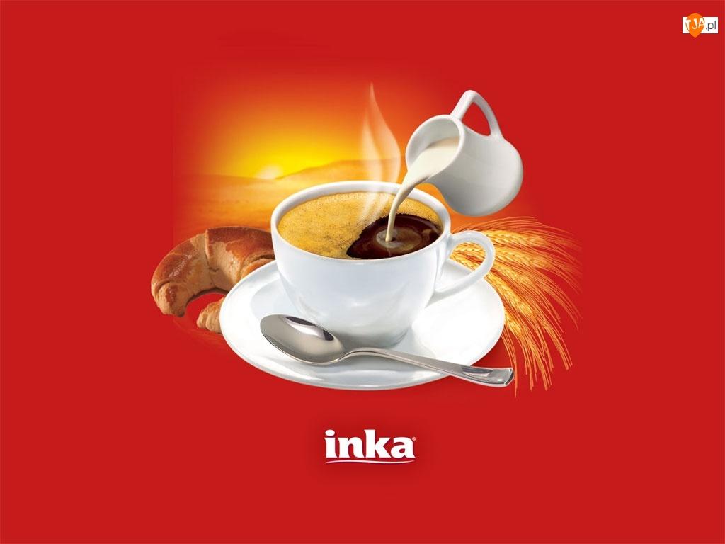 Inka, rogal, kawa, śmietanka