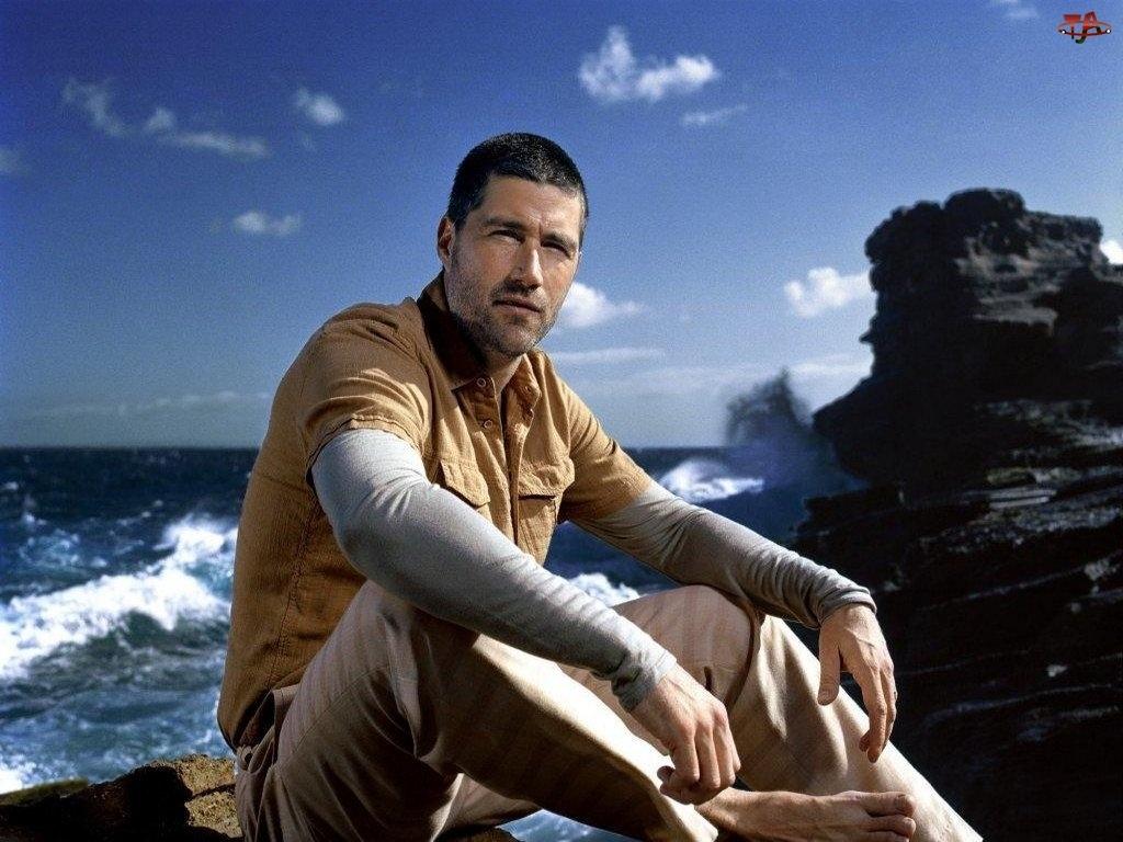 Filmy Lost, ocean, Matthew Fox, skały