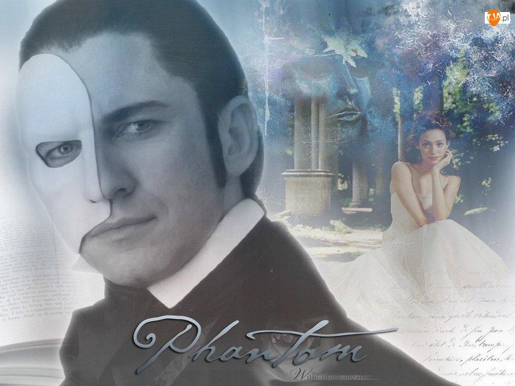 suknia, Phantom Of The Opera, Gerard Butler, Emmy Rossum, maska