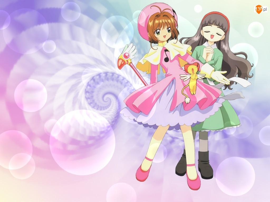 Cardcaptor Sakura, pluszak, dziewczyny, sukienki