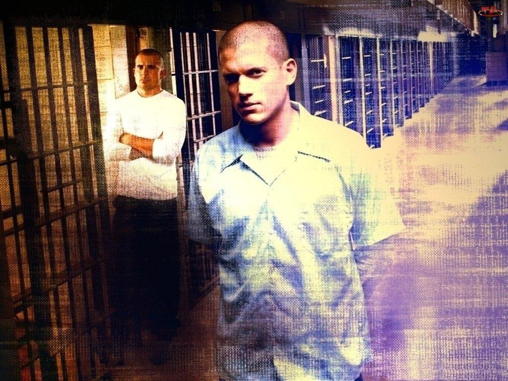Prison Break, Wentworth Miller, Dominic Purcell, korytarz