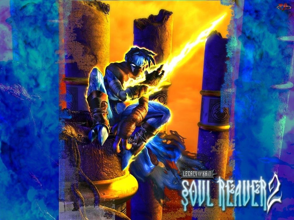 Legacy Of Kain Soul Reaver 2, ogień, postać, potwór