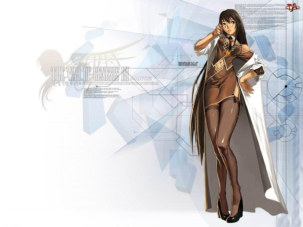 postać, The War Of Genesis 3, okulary, kobieta