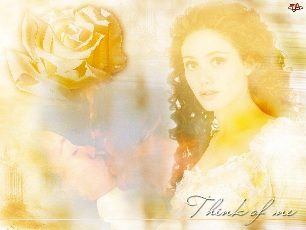 róża, loki, Phantom Of The Opera, Emmy Rossum