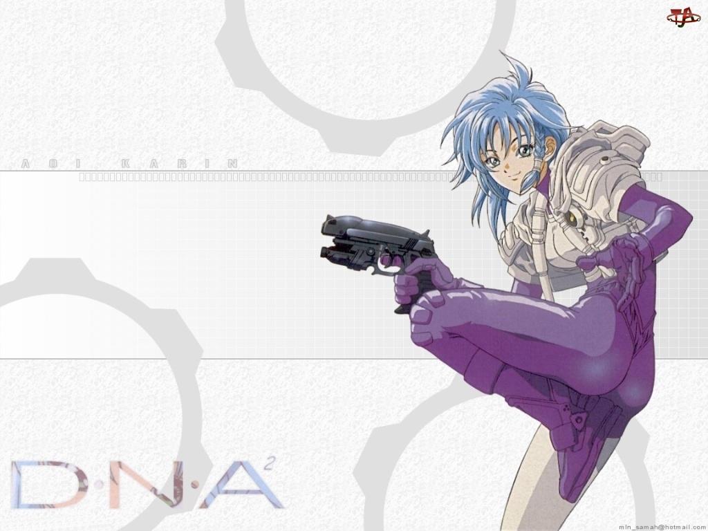 D N Angel 2, strój, dziewczyna, pistolet