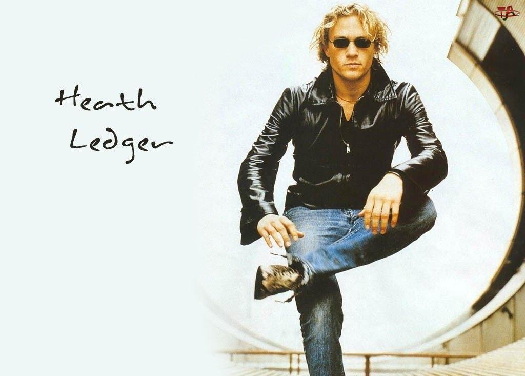 okulary, Heath Ledger, skórzana kurtka