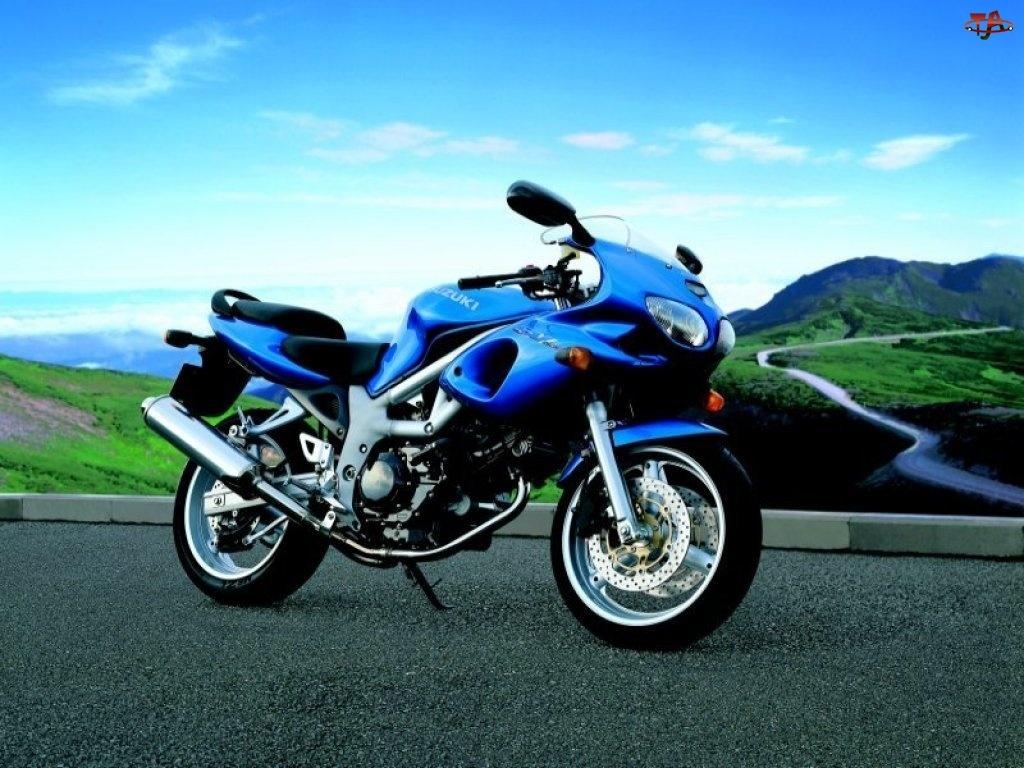 koła, siedzenie, opony, kierownica, tłumik , Motory Suzuki, światła , lusterka, niebieski