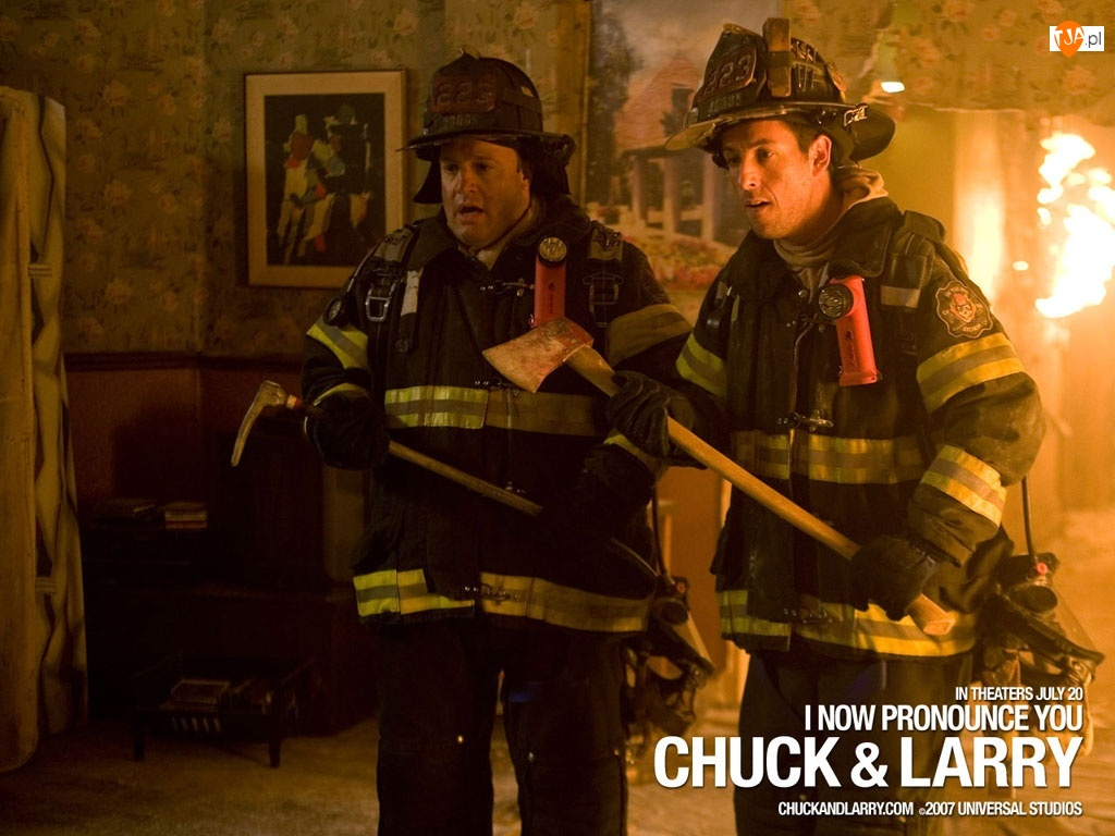 pożarna, I Now Pronounce You Chuck And Larry, Kevin James, Adam Sandler, straż