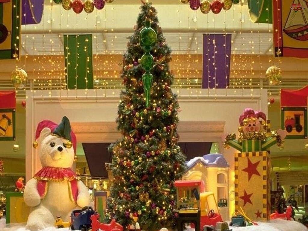 miś, Boże Narodzenie, choinka
