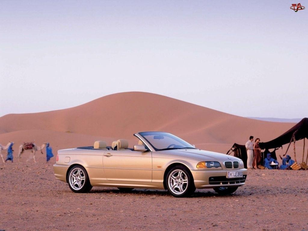 BMW, Pustynia, E46, Cabrio