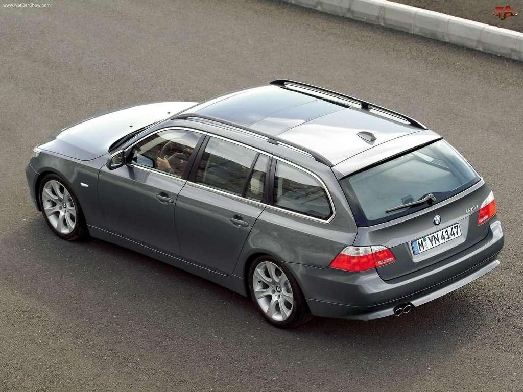 Szary, Kombi, BMW 5, E60
