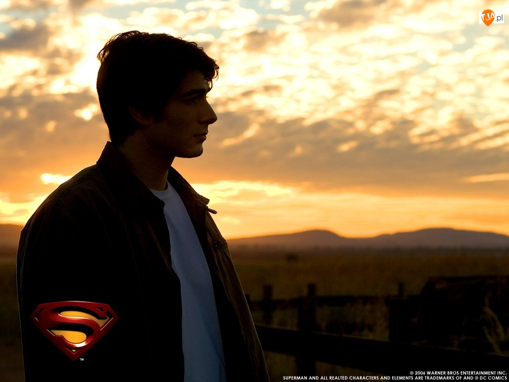 smutny, Superman Returns, zachód, Brandon Routh, płot