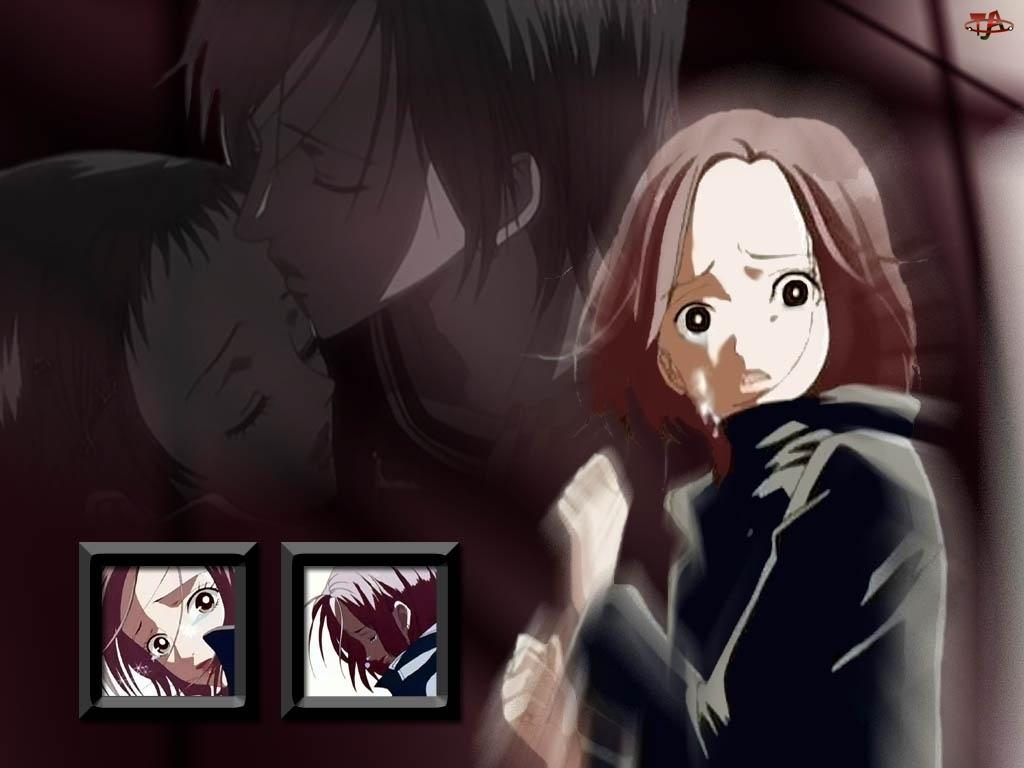 smutna mina, Nana, pocałunek