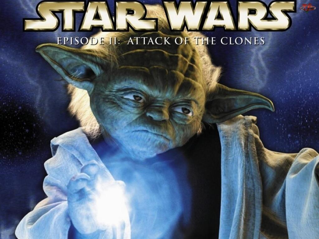 moc, Star Wars, napis, plakat, Yoda