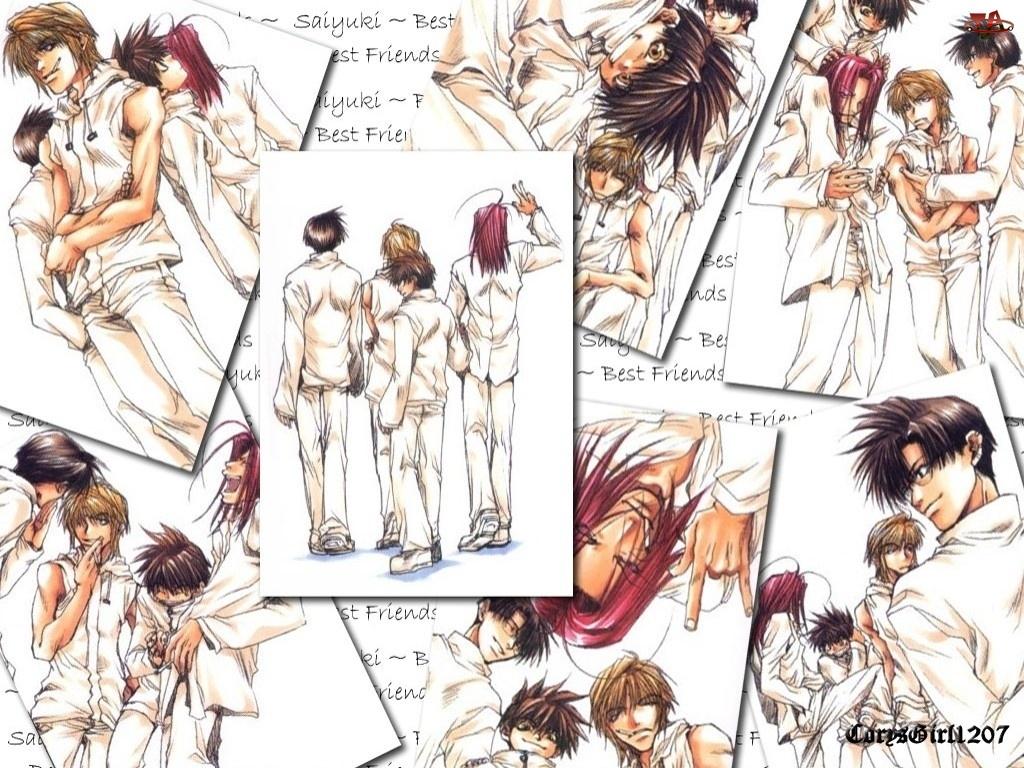 ludzie, Saiyuki, plakat, zdjęcia, postacie