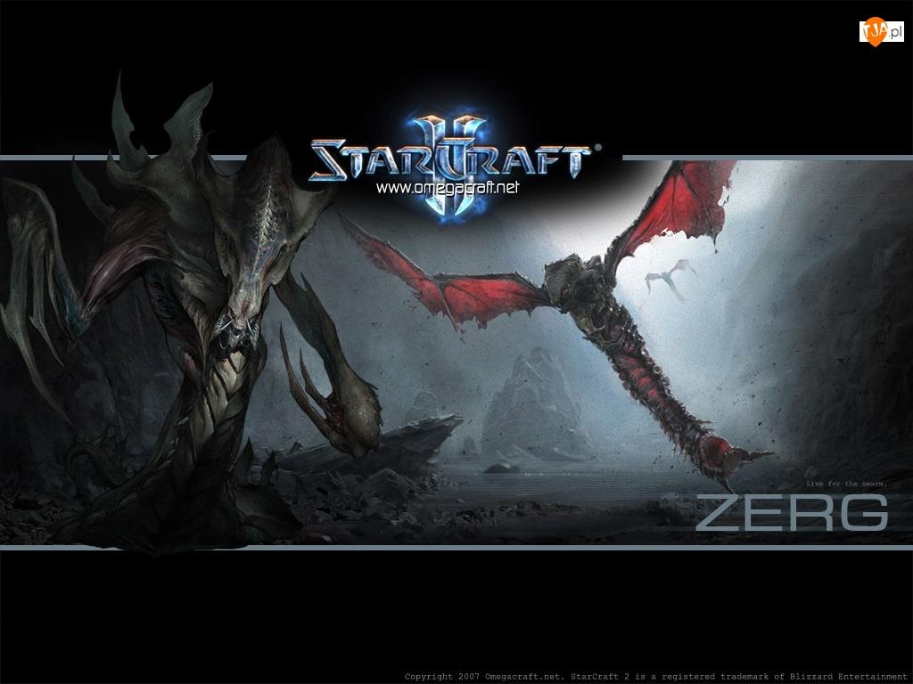 skrzydła, logo, Starcraft 2, grafika