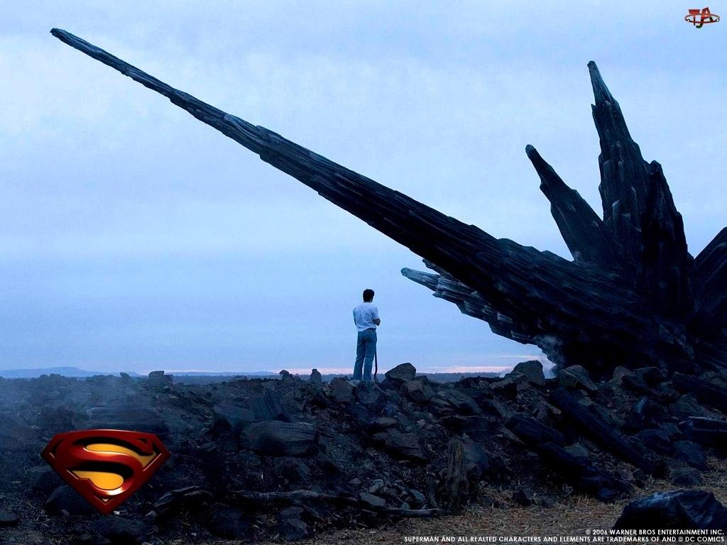 Superman Returns, palenisko, człowiek, stoi