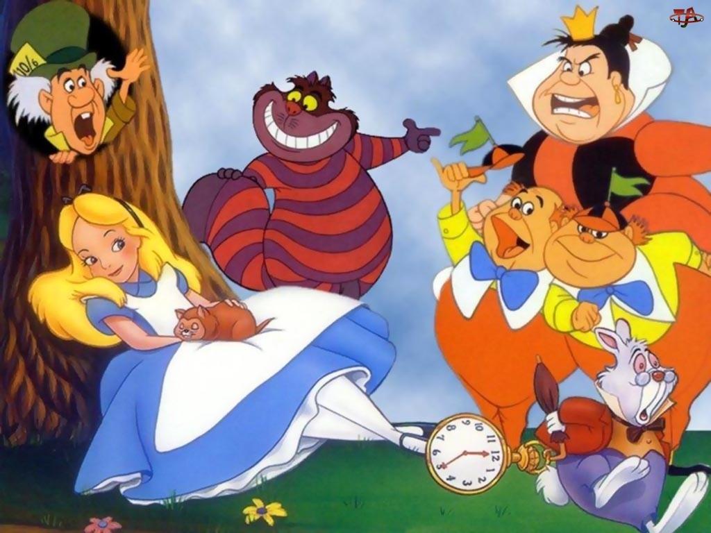 Alice in Wonderland, postacie, Alicja w Krainie Czarów, Film animowany, Bajka