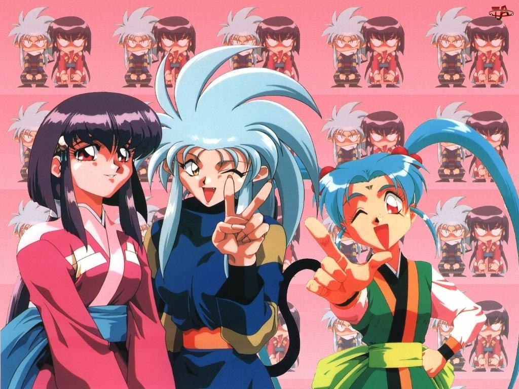 kimono, Tenchi Muyo, niebieskie włosy