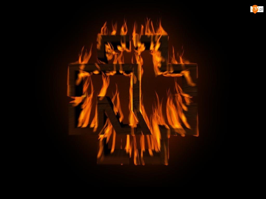 Rammstein, znaczek w płomieniach