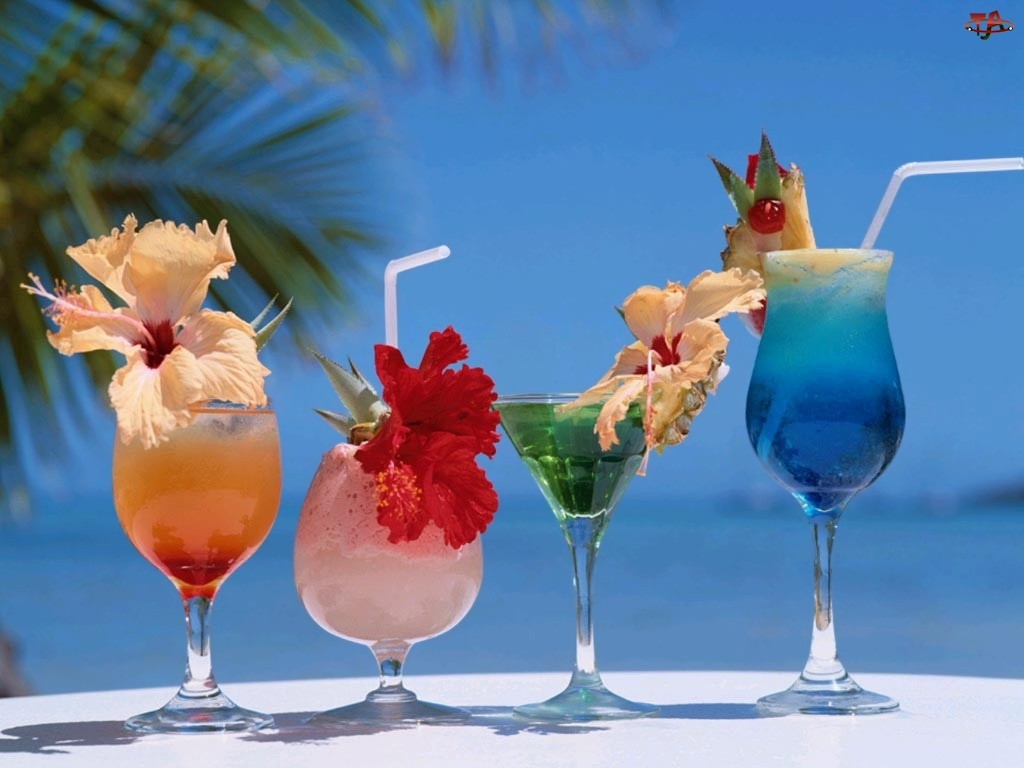 Kwiatki, Kolorowe, Drinki