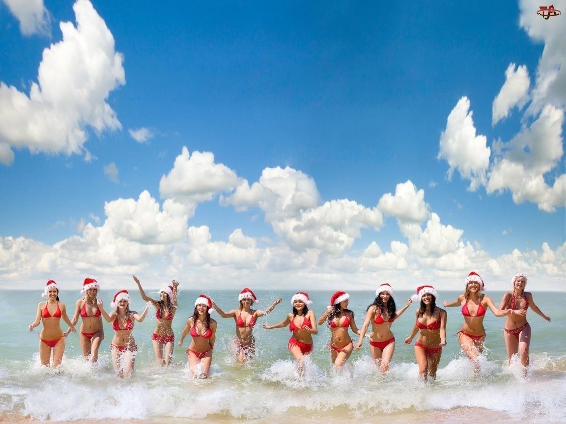 Mikołajki, Plaża, Kobiety