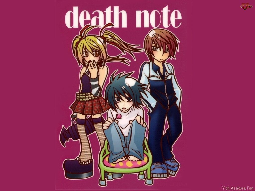krzesło, Death Note, lizak, dzieci, dres