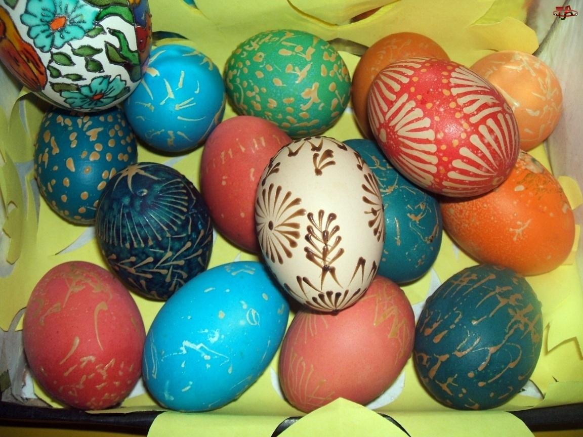 jajka, Wielkanoc, malowane