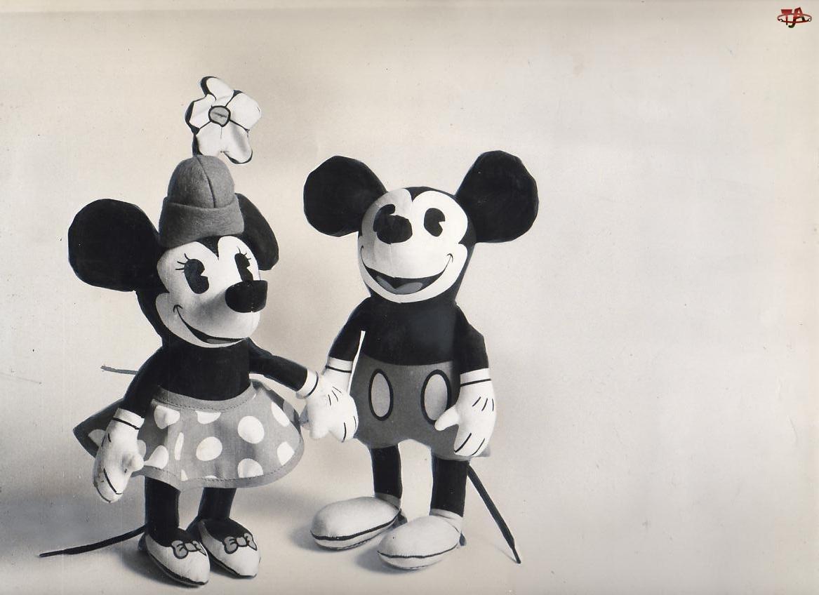 Myszka Miki, czarno, biała, bajka