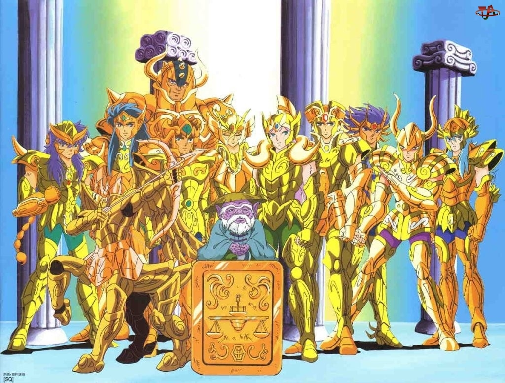 Saint Seiya, kolumny, gold, ludzie