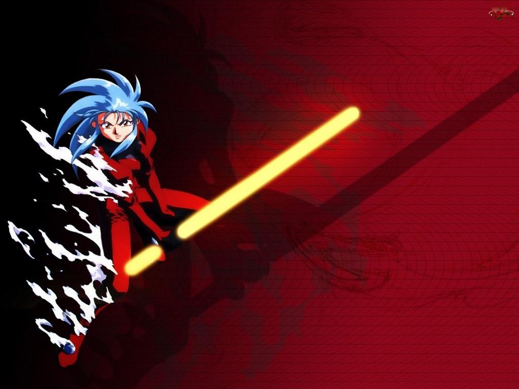 czerwony strój, Tenchi Muyo, lampa