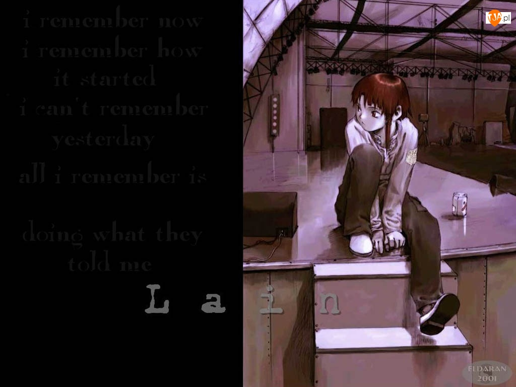 rude włosy, Serial Experiments Lain, tekst