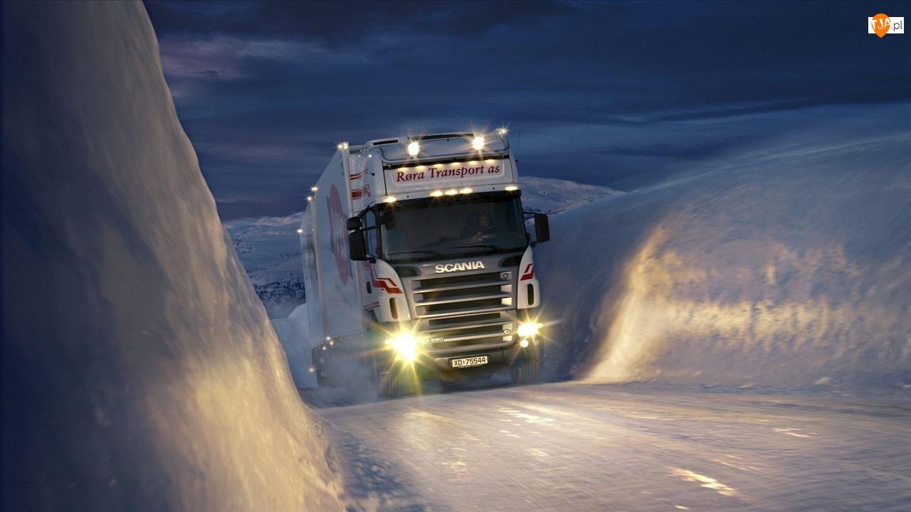 Scania, Droga, Zima, Lodowa