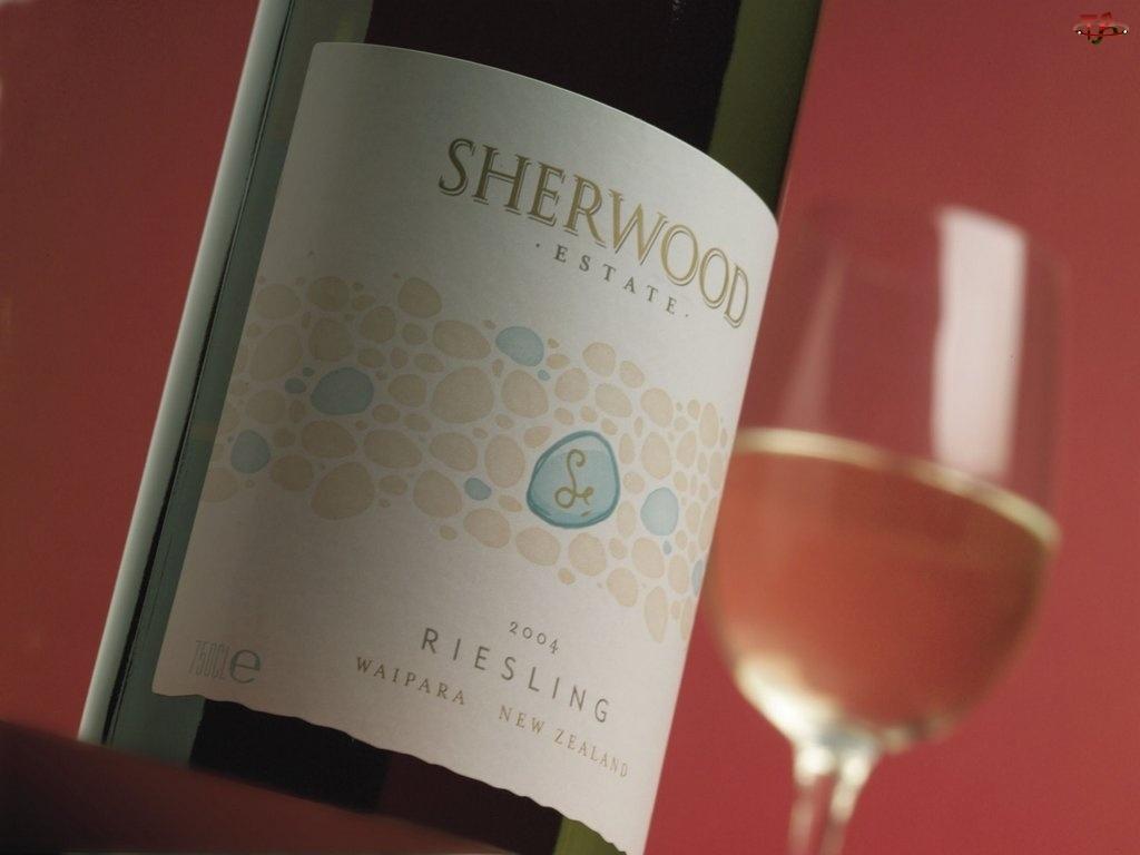 białe wino, Wina, zielona butelka