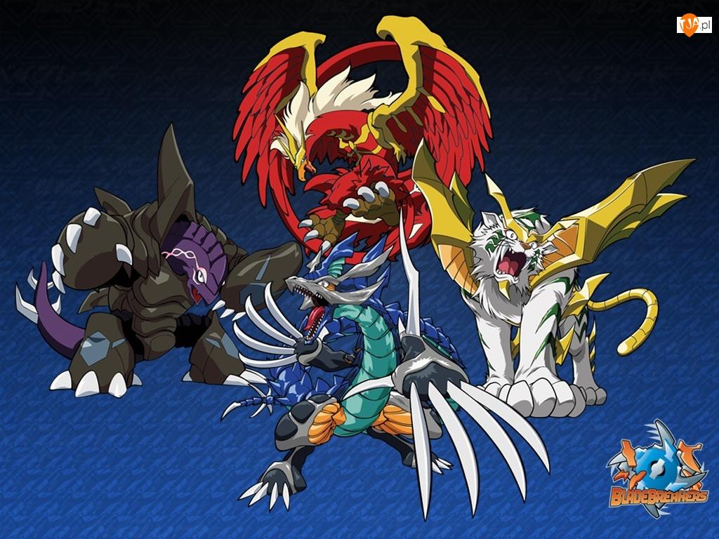postacie, Beyblade, stworzenia