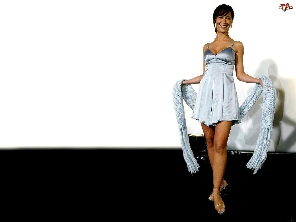 Jennifer Love Hewitt, szal, długi, wełniany