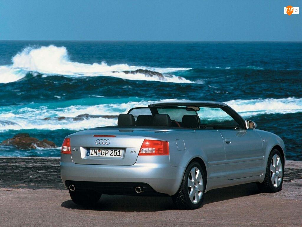 Srebrne, Fale, Audi A4, Cabrio