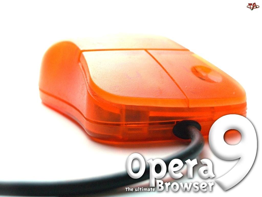Opera, myszka, kabel