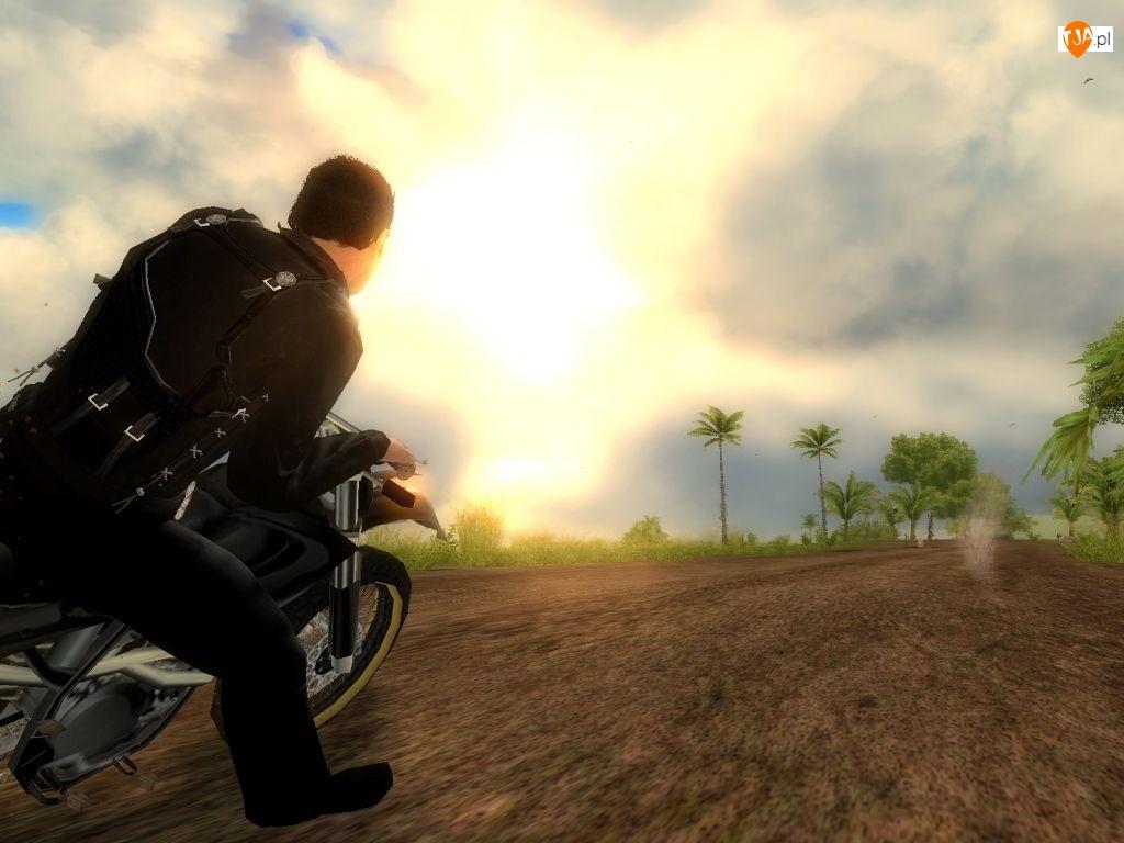Screen, Just Cause 1, Jazda, Motocyklem