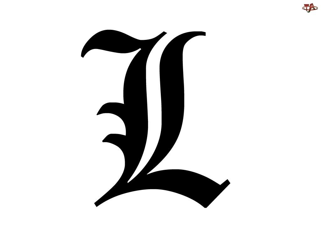 znak, Death Note, litera