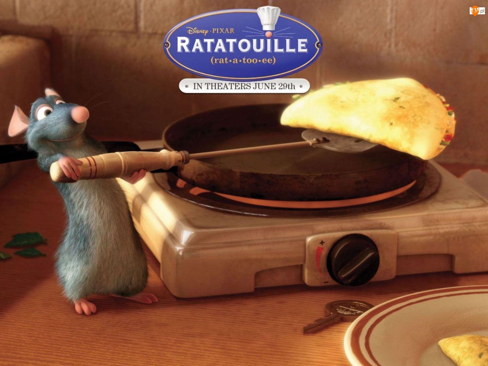 Ratatuj, mysz, patelnia