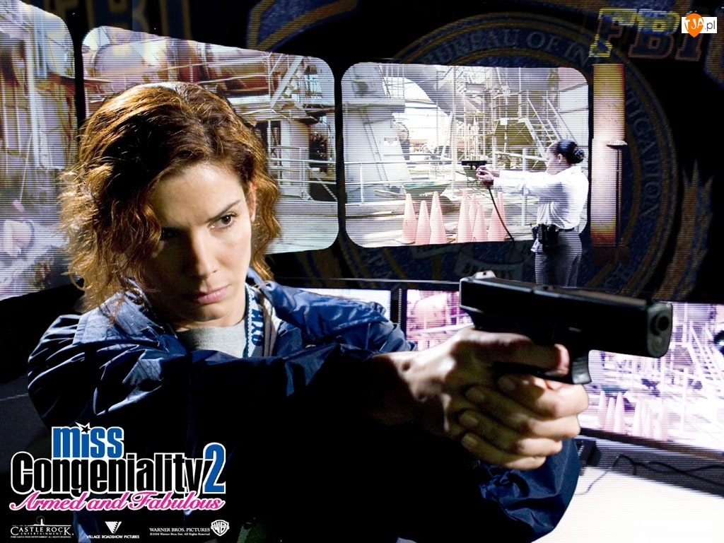 Miss Congeniality 2, Sandra Bullock, pistolet, agentka