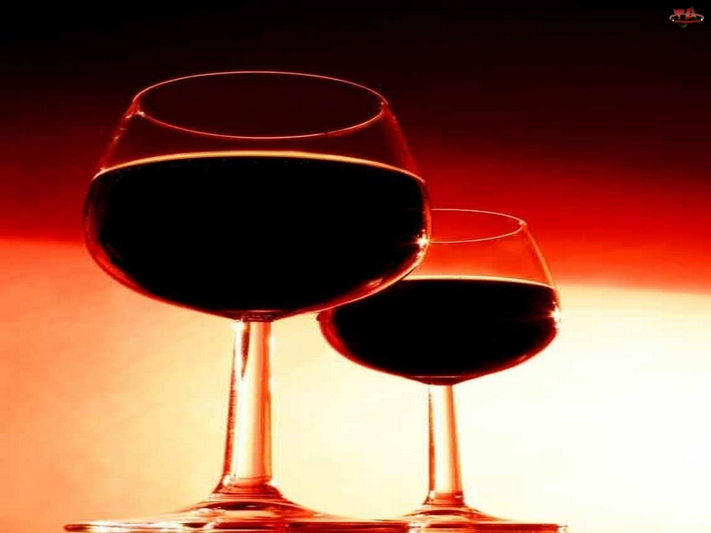 czerwone wino, Wina, lampki