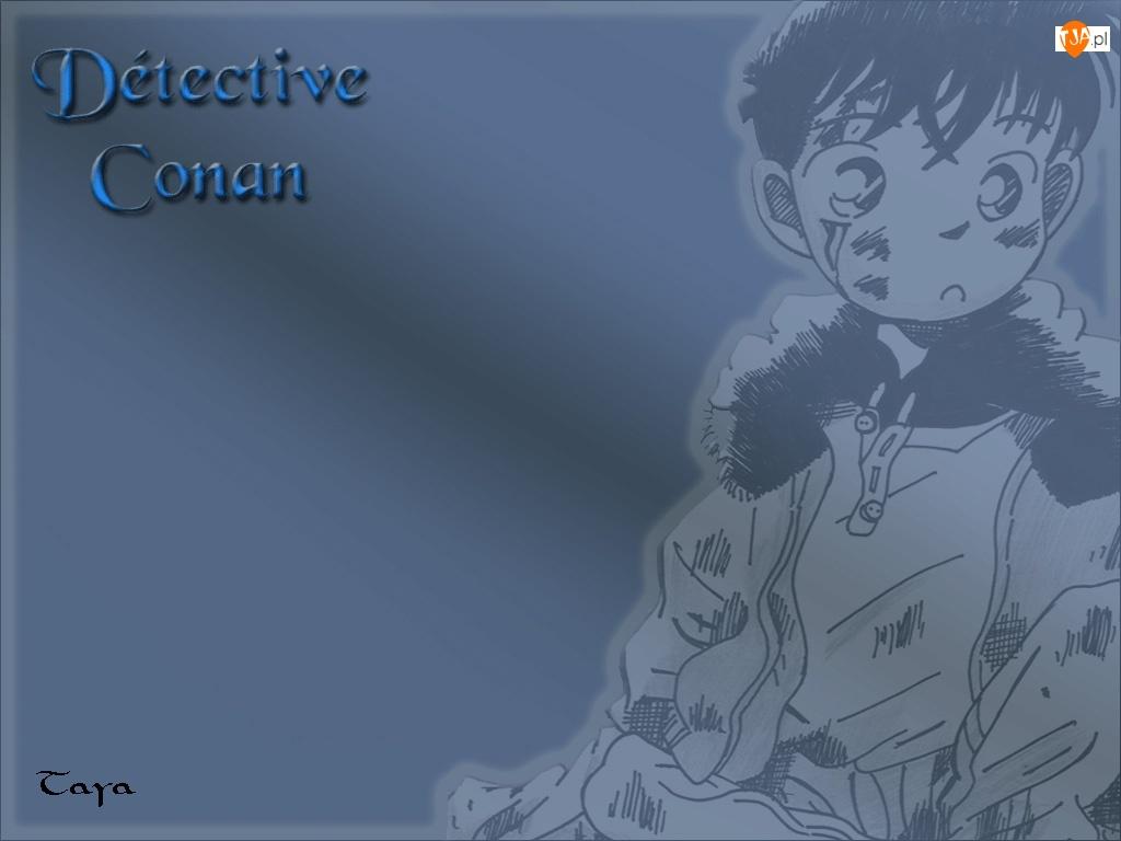 Detective Conan, ubranie, rysunek, chłopiec