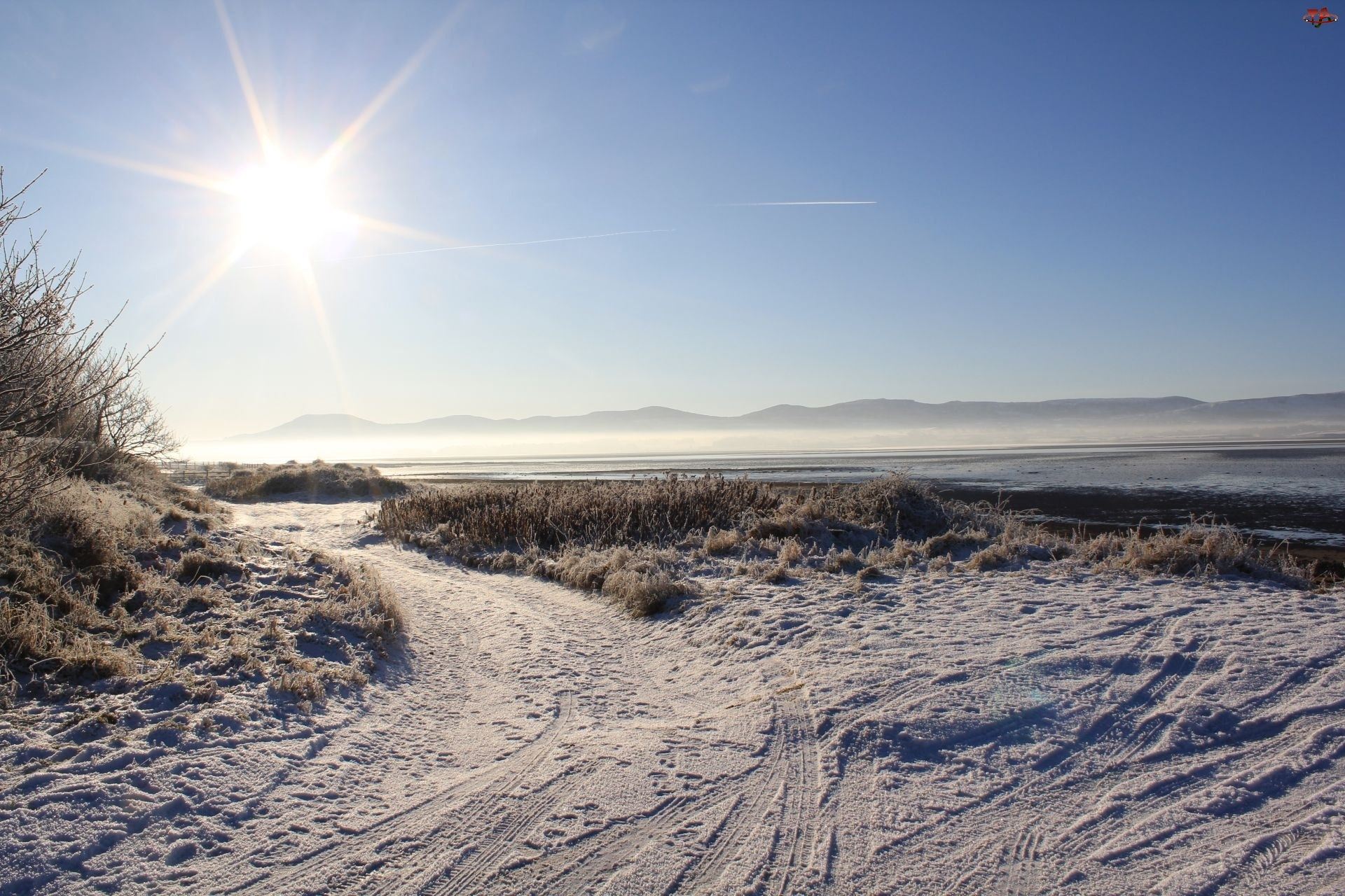 Sligo Strandhill, Słońca, Szron, Promienie