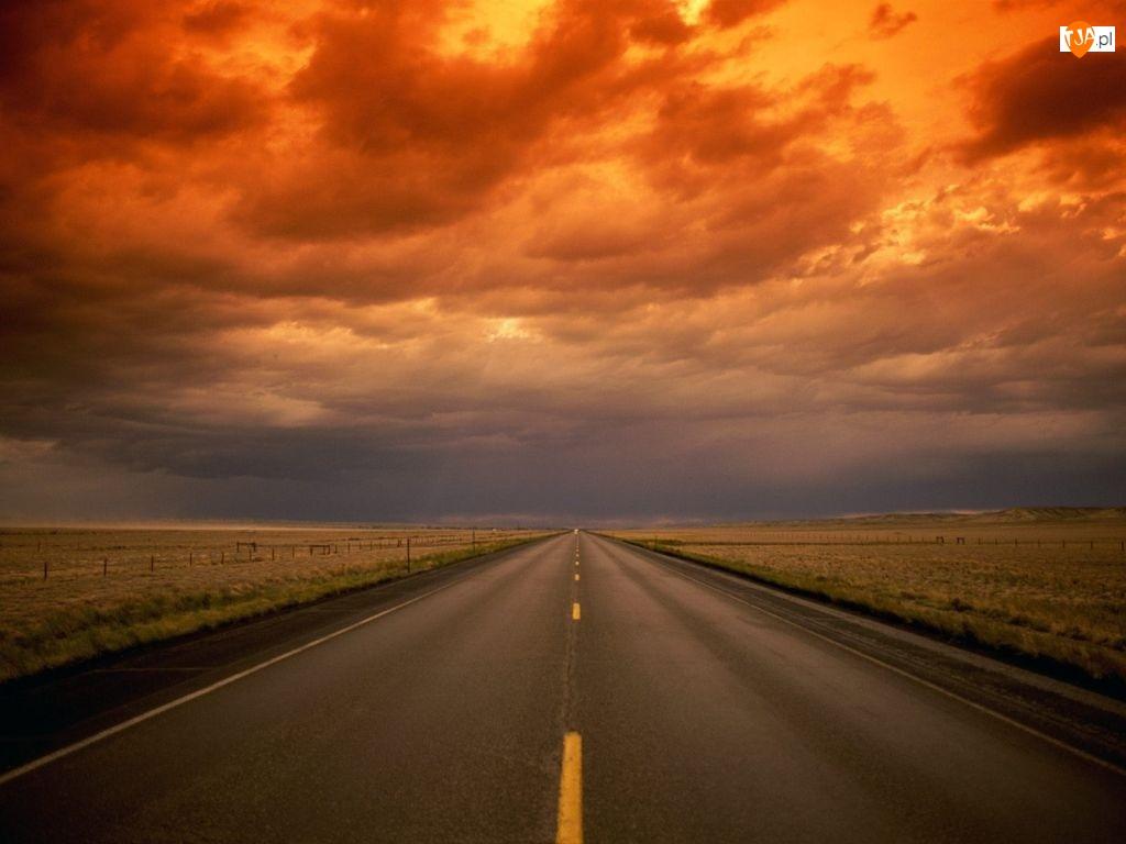 Chmury, Ulica, Zachód Słońca
